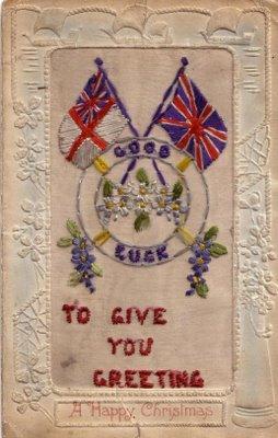 Postal enviada por Ethel a Harry en la Navidad de 1917
