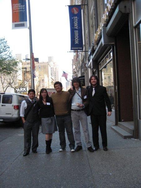 De izquierda a derecha: Jose Luis Igue, Elizabeth Montañez, Javier Puente, Roberto Chauca y Jorge Valdez