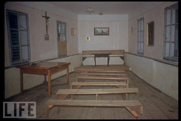 Interior de la escuela donde estudió Hitler