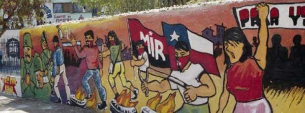 Archivo digital del muralismo de protesta chileno 1983 for Mural metro u de chile