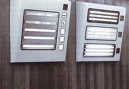 Pantallas del cuarto de operaciones del Proyecto Synco.